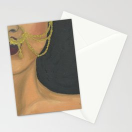 Woman With a Nose Ring Stationery Cards