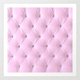 pink chesterfield Art Print