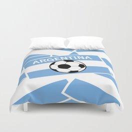 Argentina Football Duvet Cover