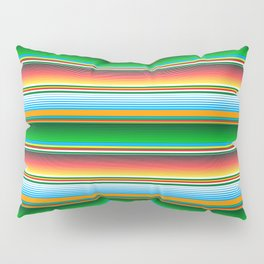 Mexican Serape Horizontal Lines Colorful Pattern  Pillow Sham