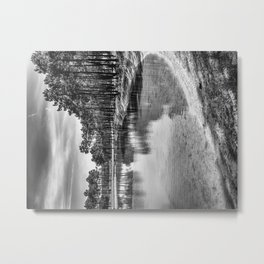 Pure Waters - Black & White Metal Print
