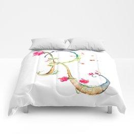 Letter R watercolor - Watercolor Monogram - Watercolor typography - Floral lettering Comforters