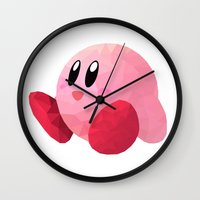kirby Wall Clocks featuring Kirby by Sharna Myers