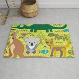 Animals Australia snake, turtle, crocodile, alliagtor, kangaroo, dingo Rug