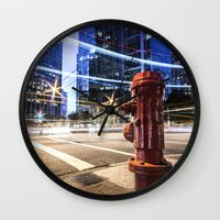 the lights Wall Clocks featuring Lights by Justin Forster Photo