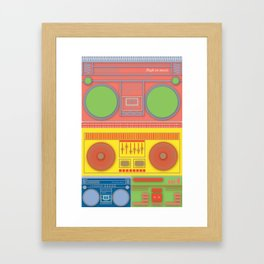 Boom Box Mania ! Framed Art Print