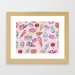 Pastel Junk Food Framed Art Print