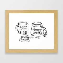 Pep Talk Framed Art Print