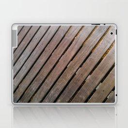 Wood Lines on the ground Laptop & iPad Skin