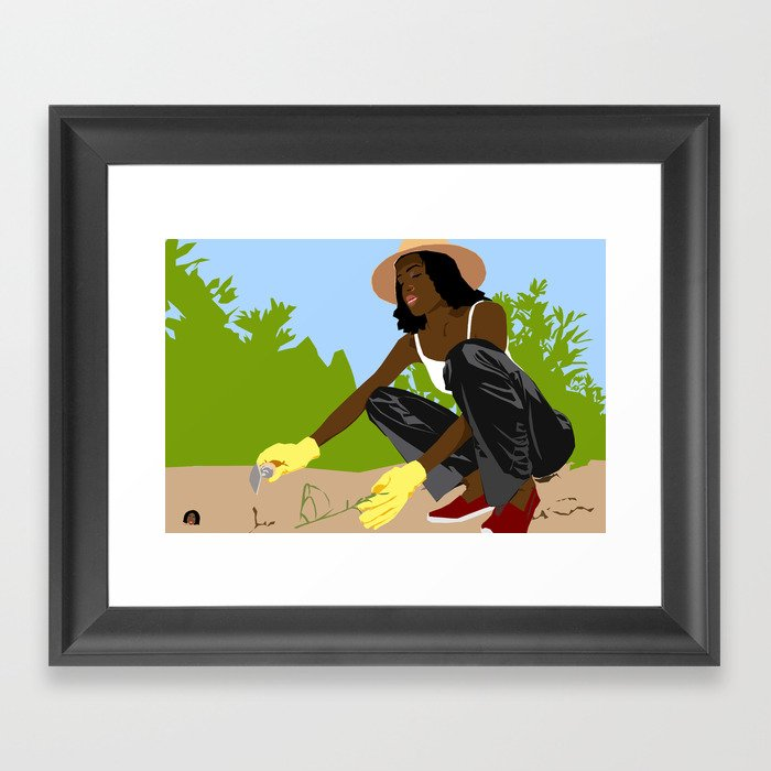 Greener Grass Framed Art Print