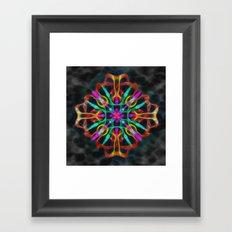 Vibrant shield decoration Framed Art Print