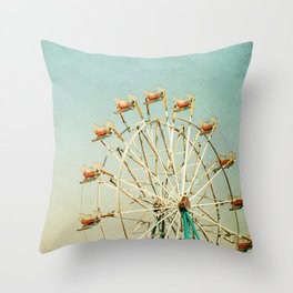 """""""I see nothing in space as promising as the view from a Ferris wheel."""" Throw Pillow"""