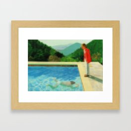 Lego: A lawn being sprinkled Framed Art Print