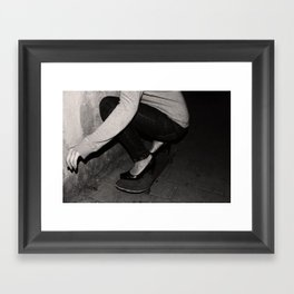 skateboarding girl Framed Art Print