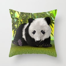 Panda Bear Cub Throw Pillow