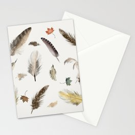 inner nature (feathers and leaves Stationery Cards