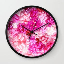 Put a pink bow on it! Wall Clock