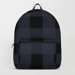 Blue Buffalo Plaid Backpack