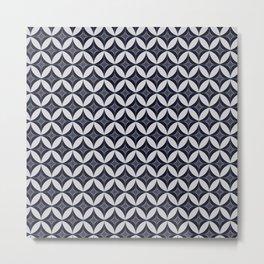 Diamond Wallpaper with Ovals Metal Print