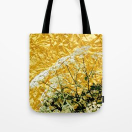 GOLDEN LACE FLOWERS FROM SOCIETY6 BY SHARLESART. Tote Bag