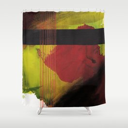 greenblack Shower Curtain