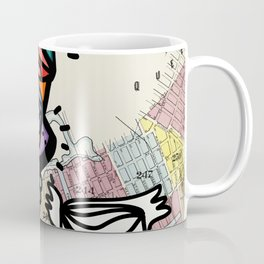 Vintage Map of Brooklyn and Graffiti Monsters  Coffee Mug