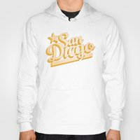 san diego Hoodies featuring San Diego by GetSolidGold