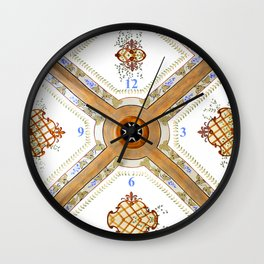 A Glass Ceiling Wall Clock