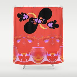 Awe-gust Pantomime Shower Curtain