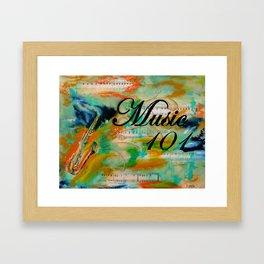 Music 101 Framed Art Print
