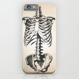 Skeletal Bones Human Anatomy Illustration Art Print iPhone Case