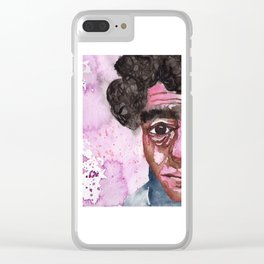 Face with no hope Clear iPhone Case