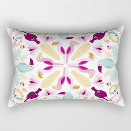 Rainforest mandala Rectangular Pillow