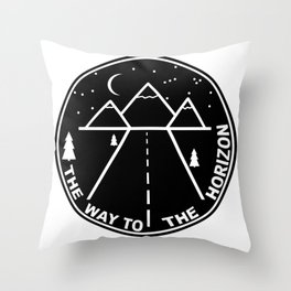 The way to the horizont Throw Pillow