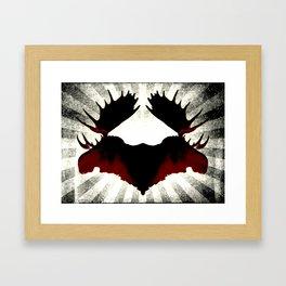 Moose Heads Framed Art Print