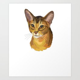 Abyssinian Cat Shirt - Gift For Cat Lovers Art Print