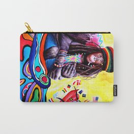 Monkey Smoking Outsider Art Painting Carry-All Pouch