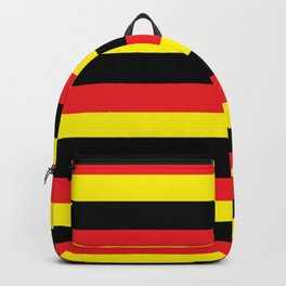 Black,red and yellow  stripes Backpack