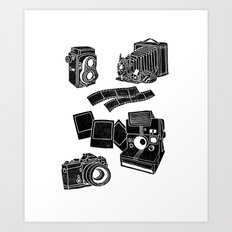 Weapons Of Mass creation - Photography (block print) Art Print