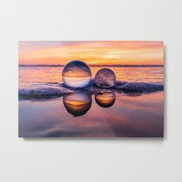 Double Reflections Metal Print