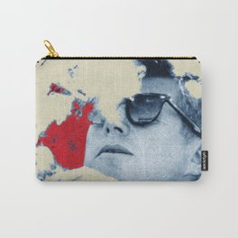 John F Kennedy Cigar and Sunglasses Rise Poster Carry-All Pouch