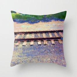 Pastel Railroad tracks Throw Pillow
