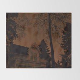 Shadowy house Throw Blanket