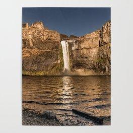 Desert Waterfall - Summer In Palouse Poster