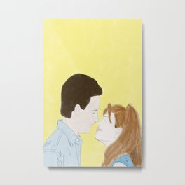 Cory & Topanga (Boy Meets World) - Watercolor Metal Print