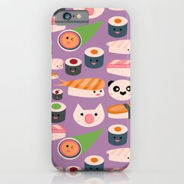 Kawaii sushi purple iPhone Case