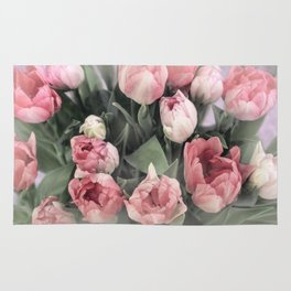 Soft Pink Tulips Rug