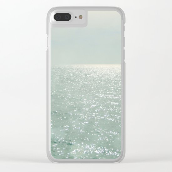 The Silver Sea Clear iPhone Case