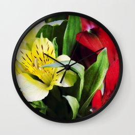 Flowers background Wall Clock