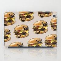 pugs iPad Cases featuring Pugs Burger by Huebucket